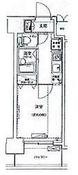 JR山手線 池袋駅 徒歩9分の賃貸マンション 10階1Kの間取り