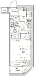 京急本線 日ノ出町駅 徒歩2分の賃貸マンション 7階1Kの間取り