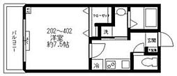 都営三田線 西巣鴨駅 徒歩2分の賃貸マンション 3階1Kの間取り