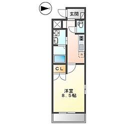JR横須賀線 新川崎駅 徒歩25分の賃貸マンション 1階1Kの間取り