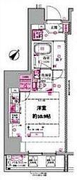 都営三田線 西巣鴨駅 徒歩4分の賃貸マンション 3階ワンルームの間取り