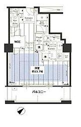 JR山手線 池袋駅 徒歩6分の賃貸マンション 4階1Kの間取り