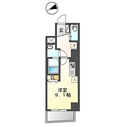 都営大江戸線 蔵前駅 徒歩6分の賃貸マンション 3階ワンルームの間取り