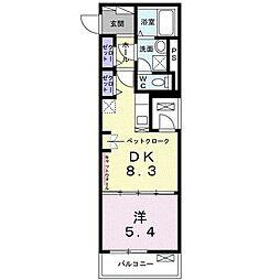 東京メトロ東西線 西葛西駅 徒歩13分の賃貸マンション 1階1DKの間取り