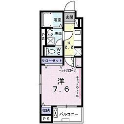 東京メトロ東西線 西葛西駅 徒歩13分の賃貸マンション 4階1Kの間取り
