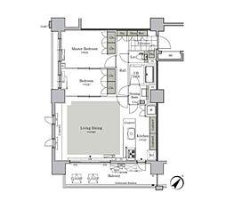 都営三田線 西巣鴨駅 徒歩9分の賃貸マンション 15階2LDKの間取り