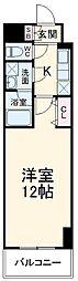 JR東北本線 宇都宮駅 徒歩5分の賃貸マンション 7階1Kの間取り