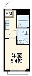 東武伊勢崎線 春日部駅 徒歩10分の賃貸マンション 3階1Kの間取り