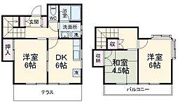 グッディハウス壱番館 1階3DKの間取り