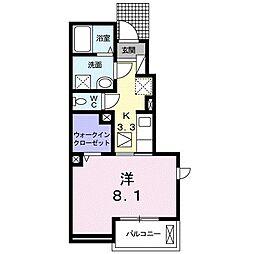 名鉄瀬戸線 尾張旭駅 徒歩7分の賃貸アパート 1階1Kの間取り