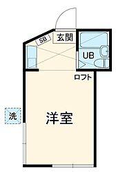 東武東上線 みずほ台駅 徒歩18分の賃貸アパート 1階ワンルームの間取り
