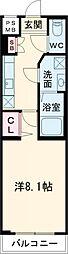 東急田園都市線 池尻大橋駅 徒歩10分の賃貸マンション 1階1Kの間取り
