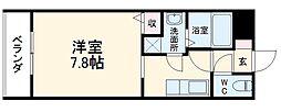 JR東海道本線 安城駅 徒歩4分の賃貸アパート 1階1Kの間取り