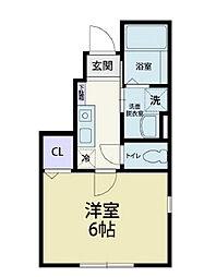 東武伊勢崎線 加須駅 3.2kmの賃貸アパート 1階1Kの間取り