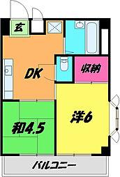 布施川ビル 3階2DKの間取り