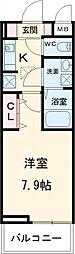 京急本線 六郷土手駅 徒歩6分の賃貸アパート 2階1Kの間取り