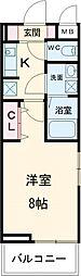 京急本線 六郷土手駅 徒歩6分の賃貸アパート 3階1Kの間取り