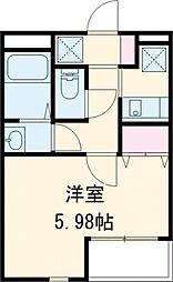 東急目黒線 武蔵小山駅 徒歩9分の賃貸マンション 1階1Kの間取り
