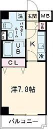 GENOVIA田町skygarden 3階1Kの間取り