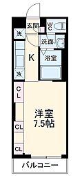 横浜市営地下鉄ブルーライン 湘南台駅 徒歩5分の賃貸アパート 1階1Kの間取り