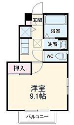 JR京葉線 新浦安駅 徒歩10分の賃貸アパート 1階1Kの間取り