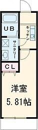 JR中央線 西荻窪駅 徒歩8分の賃貸アパート 2階1Kの間取り