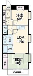 JR京葉線 新浦安駅 徒歩10分の賃貸マンション 3階2LDKの間取り
