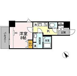 JR東海道本線 静岡駅 徒歩10分の賃貸マンション 6階1Kの間取り