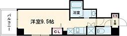 東京メトロ日比谷線 三ノ輪駅 徒歩5分の賃貸マンション 4階ワンルームの間取り