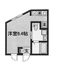 東京メトロ丸ノ内線 中野新橋駅 徒歩8分の賃貸マンション 2階ワンルームの間取り
