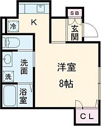 つくばエクスプレス 六町駅 徒歩6分の賃貸アパート 1階1Kの間取り