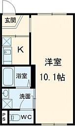 東京メトロ日比谷線 南千住駅 徒歩11分の賃貸マンション 1階1Kの間取り