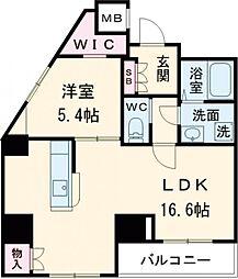 京王線 八幡山駅 徒歩9分の賃貸マンション 7階1LDKの間取り