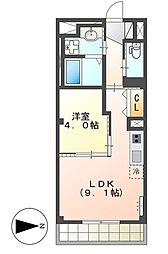 JR総武本線 千葉駅 徒歩19分の賃貸マンション 1階1LDKの間取り