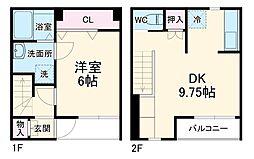 JR成田線 小見川駅 徒歩9分の賃貸テラスハウス 1階1DKの間取り