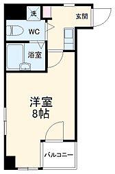 JR総武本線 稲毛駅 徒歩2分の賃貸マンション 3階1Kの間取り
