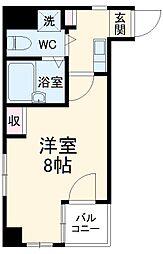 JR総武本線 稲毛駅 徒歩2分の賃貸マンション 5階1Kの間取り