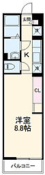 JR京浜東北・根岸線 南浦和駅 徒歩11分の賃貸マンション 2階1Kの間取り