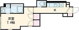 東武東上線 下板橋駅 徒歩6分の賃貸アパート 1階1Kの間取り
