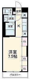 JR成田線 成田駅 徒歩19分の賃貸アパート 1階1Kの間取り