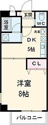 JR中央線 立川駅 徒歩7分の賃貸マンション 6階1DKの間取り