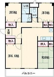 JR南武線 谷保駅 徒歩18分の賃貸マンション 6階4LDKの間取り