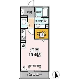 JR東海道本線 清水駅 バス28分 白浜町下車 徒歩2分の賃貸アパート 1階ワンルームの間取り