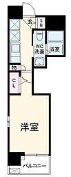 エステムコート名古屋泉プラチナムゲート 3階1Kの間取り