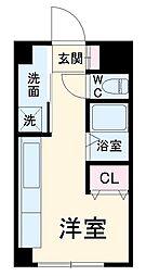 JR上越線 群馬総社駅 4kmの賃貸アパート 1階ワンルームの間取り