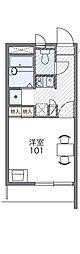 JR両毛線 前橋駅 バス33分 川原町北下車 徒歩4分の賃貸マンション 3階1Kの間取り