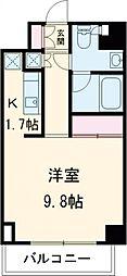 小田急小田原線 成城学園前駅 徒歩2分の賃貸マンション 2階1Kの間取り