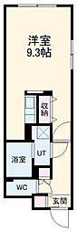 LUORE浄心 5階ワンルームの間取り