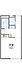 間取り,1K,面積20.28m2,賃料2.5万円,東武伊勢崎線 足利市駅 徒歩17分,,栃木県足利市通5丁目3197-7