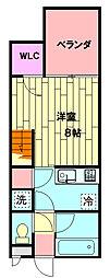 JR東海道本線 西小坂井駅 徒歩23分の賃貸アパート 1階ワンルームの間取り